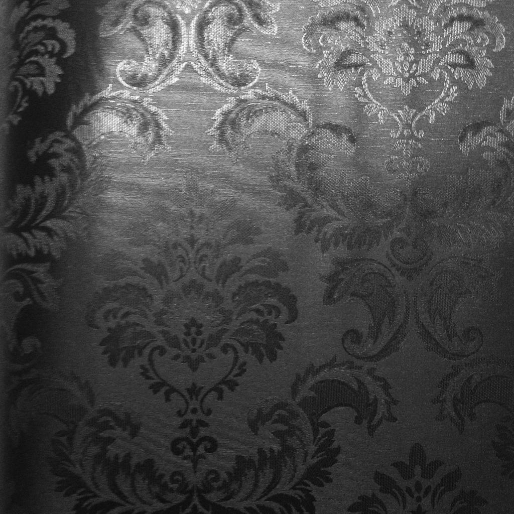 Black Silk Damask - Dekorhuys