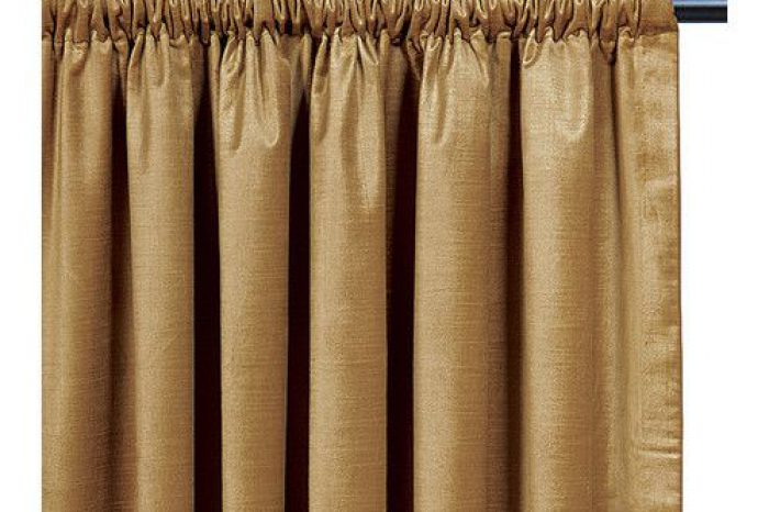 Gold pocket pleat