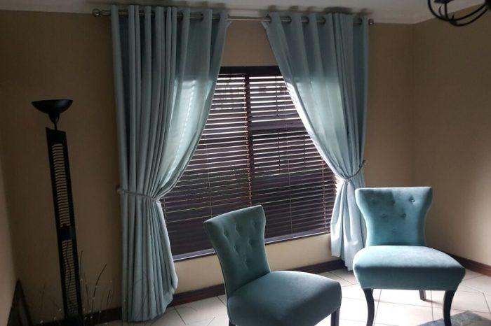 Blue curtains Dekor blinds