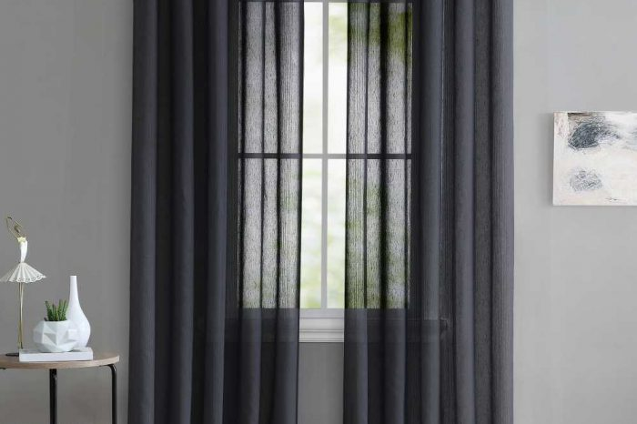 Sheer eyelet curtain